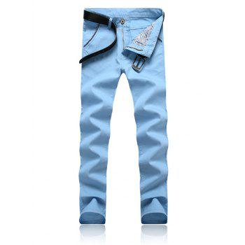 Zipper Fly Trimmed Pocket Tapered Pants