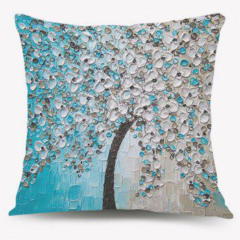 Blossom Tree Oil Painting Sofa Cushion Pillow Case