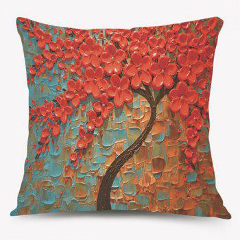 Oil Painting Tree of Life Sofa Cushion Pillow Case