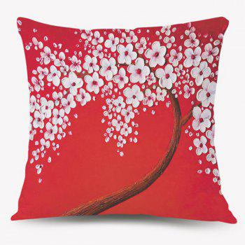 Flower Tree Sofa Cushion Throw Pillow Case