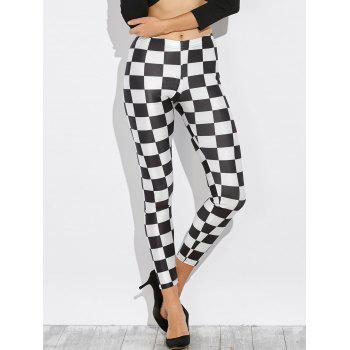 Checked Stretchy Pencil Leggings