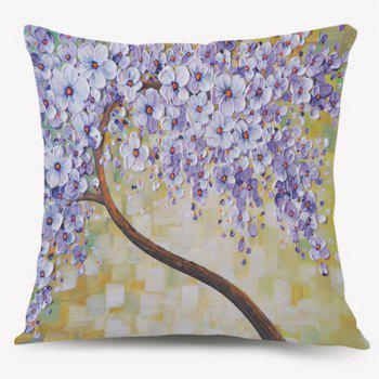 Blossom Tree Oil Paint Square Cushion Pillow Case