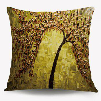 Oil Painting Tree Square Cushion Throw Pillow Case