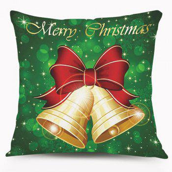 Christmas Bell Design Square Cushion Throw Pillow Case