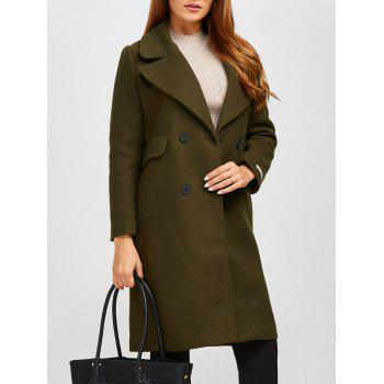 Double Breasted Lapel Longline Coat