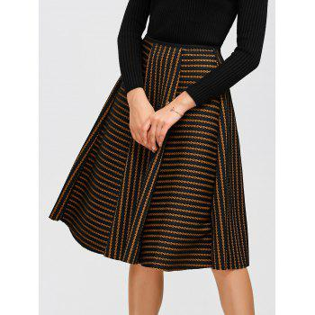 Striped Pleated Puff Skirt