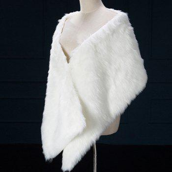 Faux Fur Wedding Pashmina