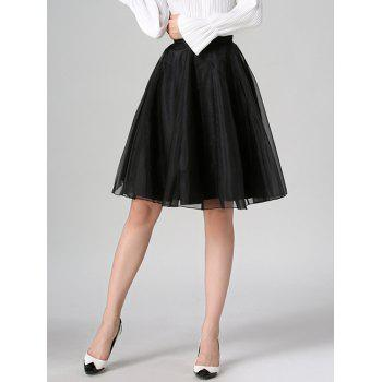 Organza High Waist Skater Skirt