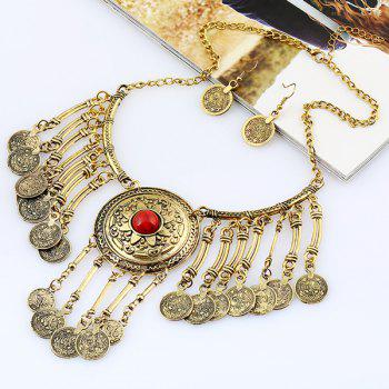 Vintage Coins Necklace and Earrings