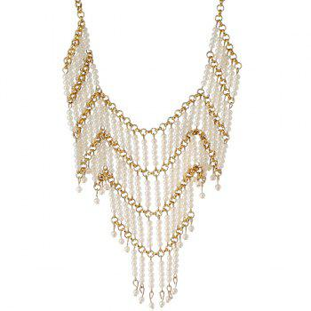 Artificial Pearl Geometric Beads Necklace