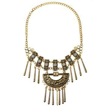 Vintage Rhinestone Alloy Necklace