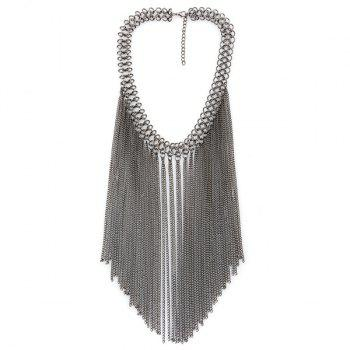 Tassel Chains Geometric Necklace