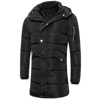 Lengthen Hooded Thicken Quilted Coat