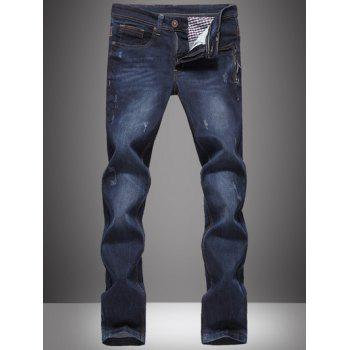 Cat's Whisker Straight Leg Bleach Wash Plus Size Jeans