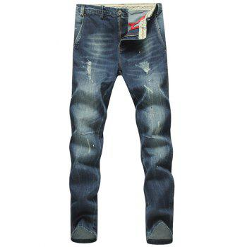 Splatter Paint Holes Plus Size Straight Leg Jeans