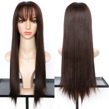 Long Neat Bang Straight Synthetic Wig