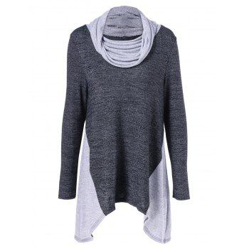 Cowl Neck Asymmetrical Knitwear