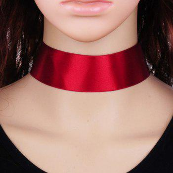 Satin Fabric Candy Color Choker Necklace