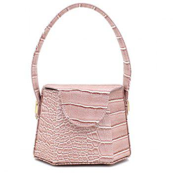 Crocodile Pattern Hexagon Shaped Tote