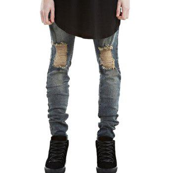Zip Fly Ripped Jeans in Slim Fit