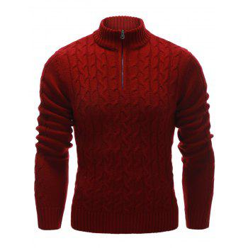 Cable Knit Half Zip Up Pullover Sweater