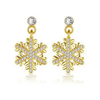 Rhinestoned Snowflake Christmas Earrings