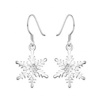 Rhinestoned Snowflake Drop Earrings