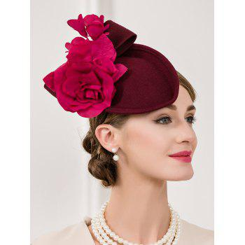 Rose Bowknot Cocktail Hat