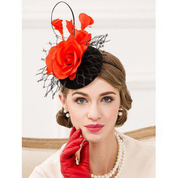 Elegant Floral Lace Cocktail Hat