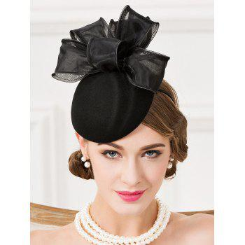 Chic Organza Bowknot Cocktail Hat