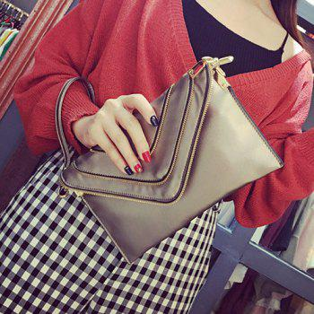 Closure Flap Snap Button Clutch Bag