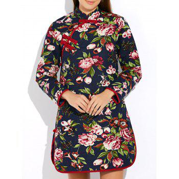Floral Long Chinese Style Coat