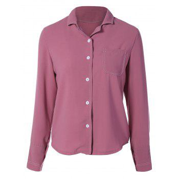 Lapel Collar Single-Breasted Shirt