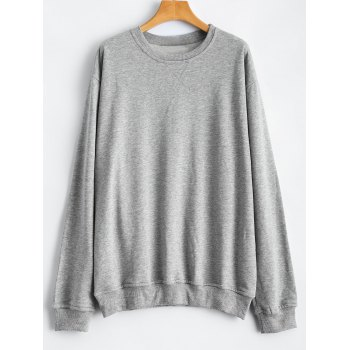 Bat-Wing Sleeve Letter Patched Sweatshirt