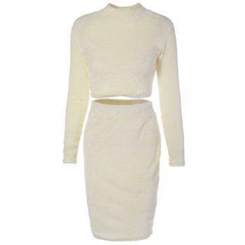 Cropped Sweater and Knitted Bodycon Skirt - PALOMINO PALOMINO