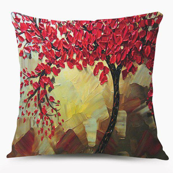 Tree of Life Oil Paint Sofa Cushion Pillow Case - COLORMIX