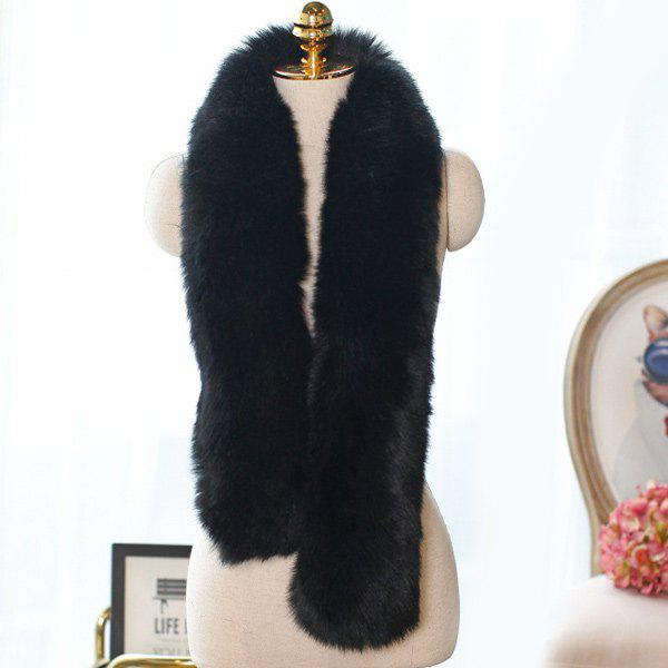 Winter Faux Fur Scarf - BLACK