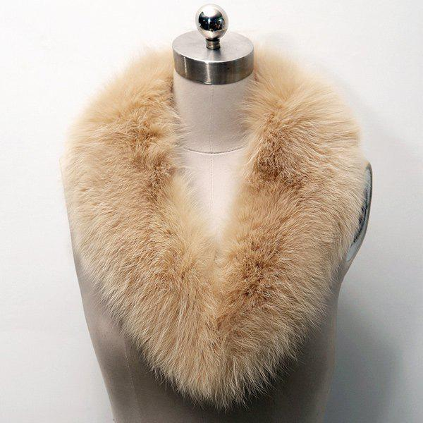 Winter Faux Fur Collar Scarf - LIGHT BROWN