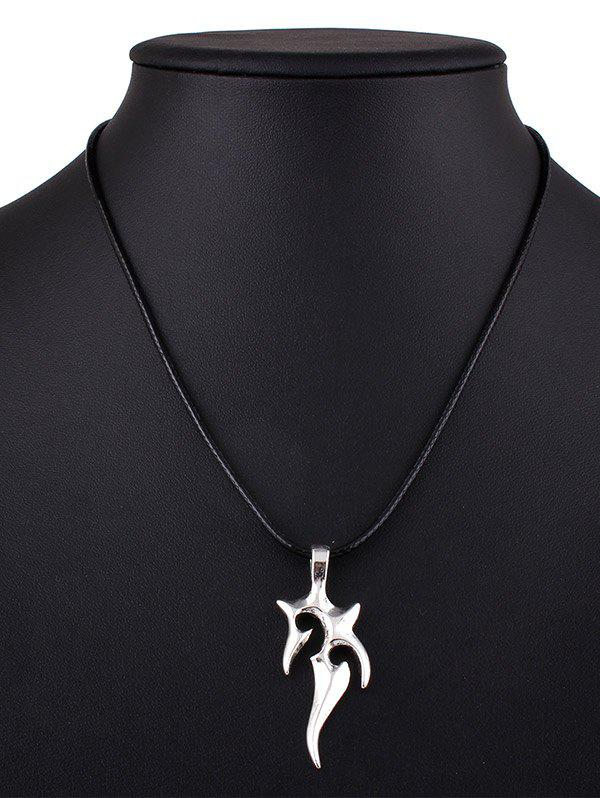 Fire Alloy Pendant Necklace