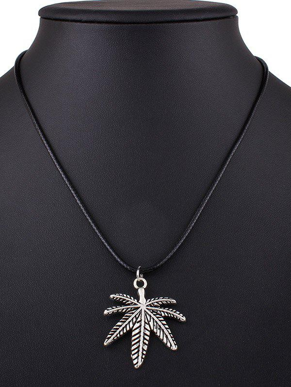 Leaf Rope Pendant Necklace
