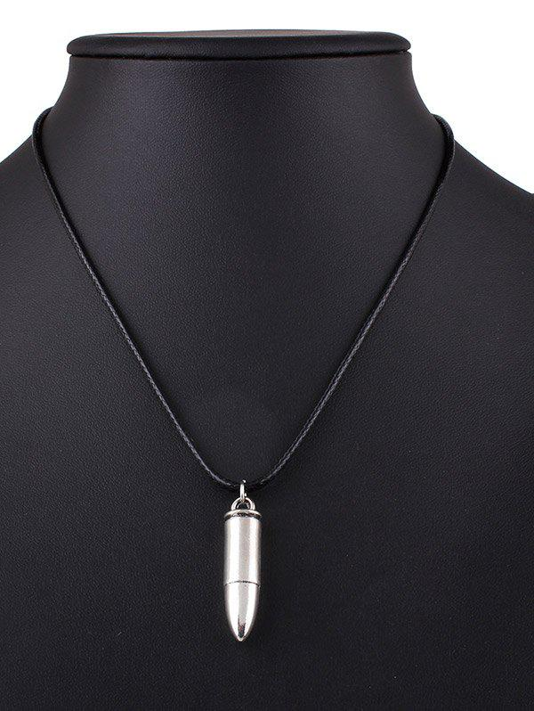 Bullet Alloy Pendant Necklace