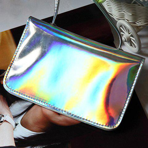 Flap Magnetic Closure Mini Crossbody BagBags<br><br><br>Color: SILVER