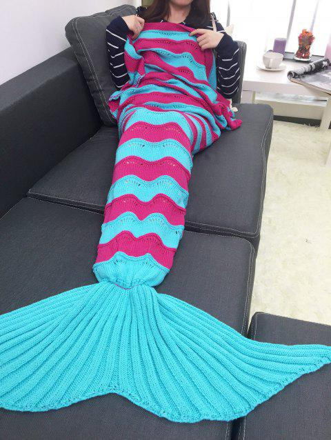 17 Off 2018 Warmth Stripe Pattern Knitting Mermaid Tail Blanket