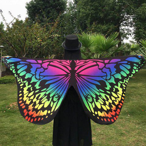 Gradient Color Butterfly Scarf - multicolorCOLOR