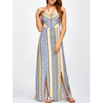 Strappy Sweetheart Neckline Maxi Bohemian Dress