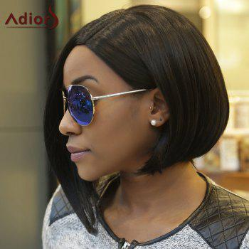 Short Straight Side Parting Capless Black Synthetic Wig - BLACK