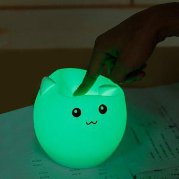 Colorful Ombre Pig Silica Gel USB Charging LED Night Light -  WHITE