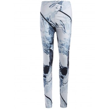 Skinny Animal Print Leggings - WHITE XL