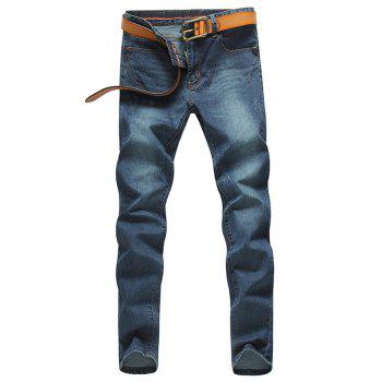 Zip Fly Pocket Design Jeans in Tapered Fit