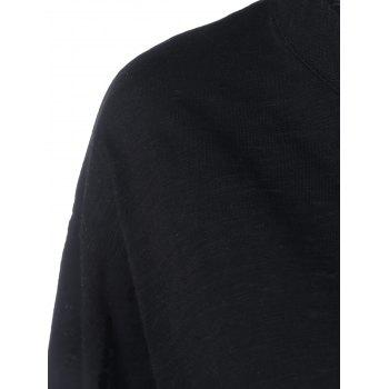 Batwing Sleeve Plus Size Tee - BLACK 4XL